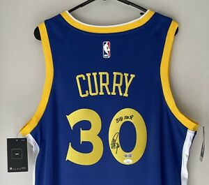 Stephen Curry Signed Golden State Warriors Autographed Nike NBA Jersey Auto JSA