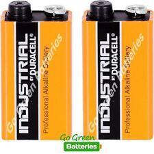 2 x Duracell 9V PP3 Industrial Procell Batteries, Smoke Alarm, LR22 BLOC MN1604
