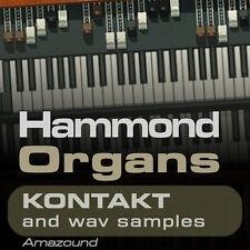 64 HAMMOND ORGANS for KONTAKT nki INSTRUMENTS & 1152 WAV SAMPLES 24 & 16 bit HQ