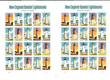 4791-4795 IMPERF Pair New England Coastal Lighthouses panes No Die Cuts NH