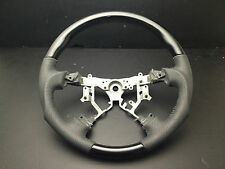 Toyota TUNDRA 2003-2007 Black Wood PIANO leather steering wheel-SPORTS