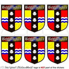 BEDFORDSHIRE County Bedford BEDS Shield Mobile Cell Phone Mini Sticker, Decal x6