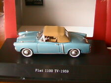 FIAT 1100 TV AZURE METAL STARLINE 526043 1/43 CAPOTE SOUPLE CLOSED CONVERTIBLE