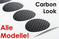 Radnabenabdeckung Radnabendeckel 3D CARBON Aufkleber, AUDI, LS Media