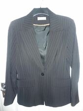 JACKET WALLIS LADIES PIN STRIPE JACKET. SIZE MEDIUM. MINT