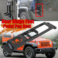 Door Hinge Step Foot Peg Metal Foldable Foot Pedal for Jeep Wrangler JK  HL
