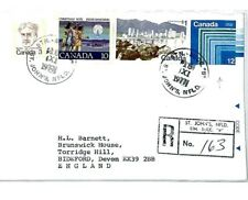 CP58 Canada 12c Postal Stationery *ST JOHNS NEWFOUNDLAND* 1977 Air Mail Cover