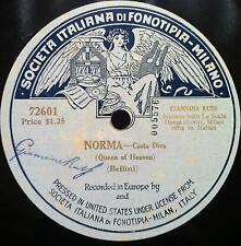 "GIANNINA RUSS bellini norma casta diva 10"" VG 72601 Rare Italian 78 Single Sided"