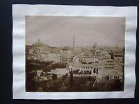 1890ca SIENA PANORAMA foto originale d'epoca albumina 19x25 cm