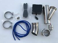 """3"""" EXHAUST CUTOUT E-CUT OUT VALVE VACUUM VALVE SYSTEM KIT & REMOTE 3 inch turbo"""