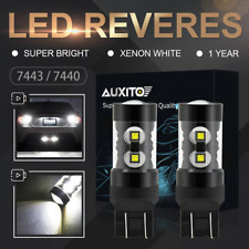 2X High Power 7443 7444 7440 W21W LED Car HID White Reverse Backup Bulbs 6000K