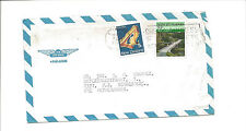 1986 New Zealand airmail cover to Netherlands  gem stone  bridge