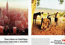 PUBLICITE ADVERTISING 086  1967  TWA compagnie aérienne (2p)   Phoenix arizona