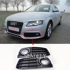 Pair Front Bumper Fog Light Grille Cover For Audi A4 A4L B8 2009 2010 2011 FAST