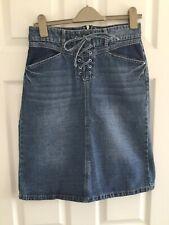 Ladies Denim Skirt Size 8 Tu/Sainsburys Knee Length
