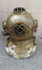 "Solid Brass Diving Helmet U.S Navy Divers Mark V 18 "" Maritime Reproduction Gift"