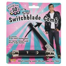 Switchblade knife flick comb rock roll teddy boy Grease costume party accessory