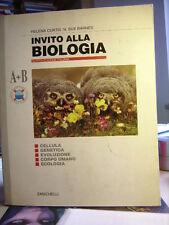 INVITO ALLA BIOLOGIA H.Curtis, N.S.Barnes  A+B    Zanichelli. Quarta edizione.
