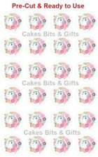 24x UNICORN Edible Wafer Cupcake Toppers PRE-CUT Ready to Use