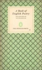 A Book Of English Poetry(Paperback Book)G.B. HarrisonPenguin-65-1963-VG