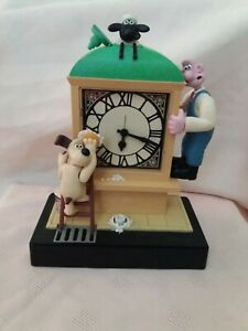 "Wallace & Gromit - Musical 9"" Alarm Clock Wesco 1998 VINTAGE"