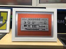 "Roland TB-303 BassLine 'ACID HOUSE' Synth FRAMED print onA4 Aluminium 10x13"" NEW"