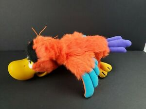 """Disney Aladdin Iago 12"""" Parrot Bird Applause Plush Hand Puppet Hard Vinyl Beak"""