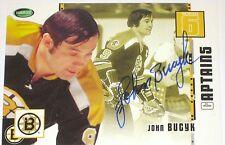 JOHNNY BUCYK SIGNED PARKHURST ORIGINAL SIX BOSTON BRUINS CARD AUTOGRAPH AUTO!!