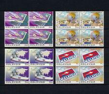 (SBAZ 151) Malaysia 1999 MNH BLOCK OF 4 UPU 125th Anniversary