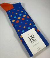 MEN'S HAPPY SOCKS BRIGHT MINI DOTS PATTERN DRESS SIZE 10-13 CREW SOCKS NWT