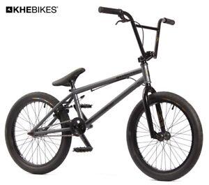 KHE BMX Bicyclette Strikedown Pro 20 Pouces Affix Rotor Stealth Gris Juste 9,7kg
