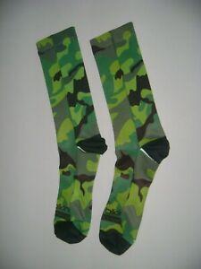 Cycling Socks Sublimated Camouflage Bikingthings Coolest Bike Socks Green Camo