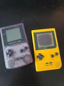 Nintendo Game Boy Pocket AND GAMEBOY COLOR Handheld SystemS