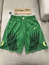 Nike Men's Oregon Ducks College Authentic Basketball Shorts Green Yellow SZ L