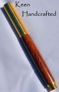 fe - Keen Handcrafted Handmade Bubinga RAW C3604 Brass Rollerball Pen