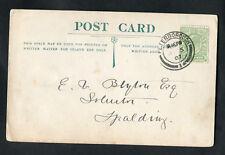 1907 Cover: Peterborough Postmark & Half Penny Green Stamp