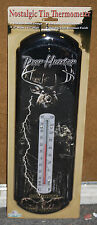 "#1361 ""Deer Hunter"" Nostalgic Tin Thermometer by Rivers Edge Products"
