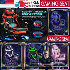Gaming Chair Spin Racing Style Office/Home Chairs Leather Computer Massage Seats