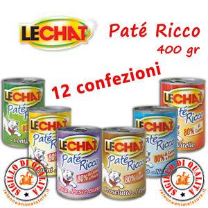 LECHAT Patè Ricco Gatto in Formato Convenienza 400 gr 12 pezzi Gatti pate'