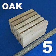 "LOT x 5 x 4"" x  6""/100 x 150 mm WOODEN BLOCKS BUNDLE SET OAK WOOD NATURAL PLAQUE"