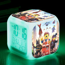 The Lego Movie Cosplay LED 7 Color Change Night light Digital Alarm Clock