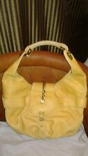 JIMMY CHOO Authentic leather TALIA Shoulder Bag Hobo Butter Yellow Medium