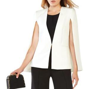 BCBGMAXAZRIA Womens Upas White Tailored Office Cape Blazer Jacket XL BHFO 0766