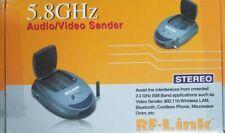 R-F LINK AVS 5811 5.8 GHz WIRELESS AUDIO/VIDEO STEREO SENDER