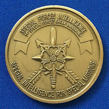 US Army Special Forces 1st SFG Airborne Green Berets Intelligence Challenge Coin
