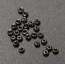 "25 Premium BLACK NICKEL  2.4mm   3/32""  Beads Bead Heads for Fly Tying"