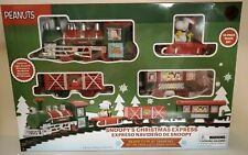 Peanuts Snoopy Holiday Express 12 Piece Christmas Train Set NEW in Box FREE SHIP
