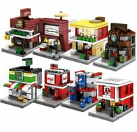Sembo Blocks Mini World little Shop City 8 Buildings 7/11 McDonald's KFC Starbuc