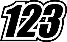 4x CUSTOM NUMBERS RACE VINYL STICKERS DECALS DIRT BIKE MOTO SUPERMOTO MOTOCROSS