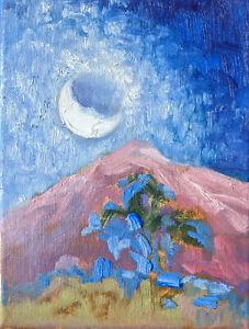 TRUJILLO - not jose - Original ART CALIFORNIA IMPRESSIONIST Oil painting moon